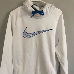 Blue and white mens nike hoodie